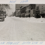 Looking East down East Market during after the blizzard of 1950.