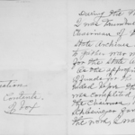Phebe Sutliff's handwritten explanation of the contents of the collection.
