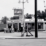 The Atlantic service station on the corner of Tod Avenue and West Market Street.