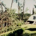 Home of Jennie Lenarcic on Arlington Road, looking north near the covered bridge, Newton Falls, Ohio.