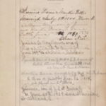 Marriage, birth and death records from a Dana family bible.