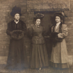 Photograph of unidentified women at the Public Library taken by the Warren Tribune Chronicle.