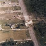 Ashland Oil and Refining Terminal propane tank blown onto Warren Avenue, Niles, Ohio.