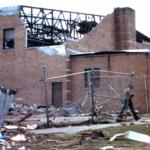 High school gymnasium, Canal Street, Newton Falls, Ohio.