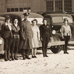 Lordstown Ordnance Depot staff, 1940's.  Ruth Michaelson is fifth from the left.
