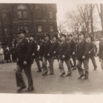 Lordstown Ordnance Depot staff in parade, downtown Warren.