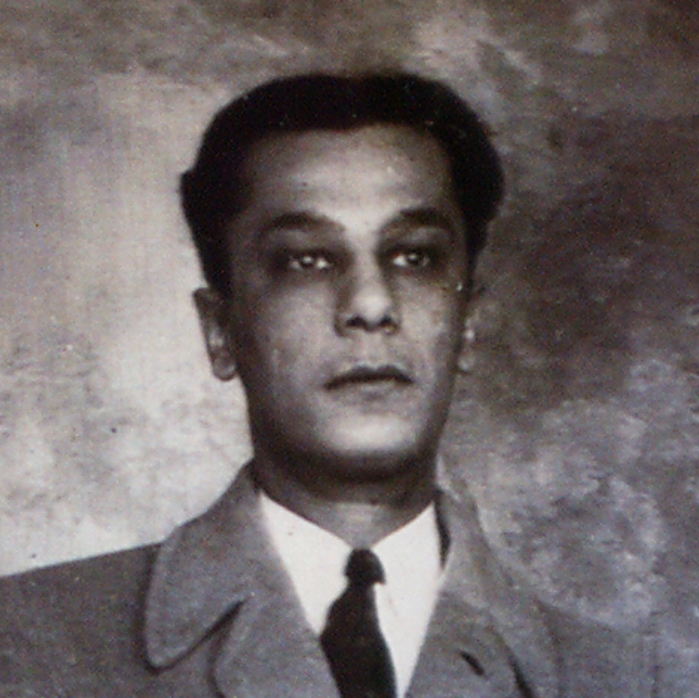 Suspect Charles Monazym's standing mug shot Buffalo, New York, May 7, 1942.