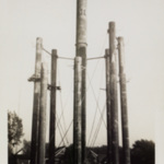 Legs of the water tower prior to completion.