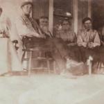 Family group photo at Ephraim Kee homestead.
