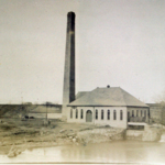 The powerhouse of the water works, located on the West side of the Mahoning River, near the corner of Mahoning Avenue and Summit Street NW.  Undated.