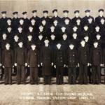 Company 1692, R.C. Eaton, C.S.P. Company Commander.  U.S. Naval Training Station, Great Lakes, Illinois.
