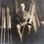 Photo-postcard.  Richard Flaherty of Niles, Ohio.  158th Depot Band of Camp Sherman, Chillicothe, Ohio (ca. 1919) .