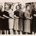 Possibly a ladies group from Christ Episcopal Church on High Street prior to its move to Atlantic Avenue.