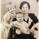 Carolyn Orr Wolcott with children Joyce and Johnny.