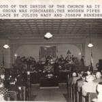 Interior shot of the Magyar Presbyterian Church, circa 1950's.