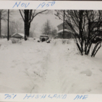 Driveway of 751 Highland Avenue, Warren, Ohio following the blizzard of 1950.