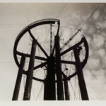 The water tower near Quinby Park during its construction.