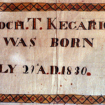 Bible record of birth of Enoch T. Kecarice.