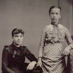 Mary and Mabel Dennison, 1884.