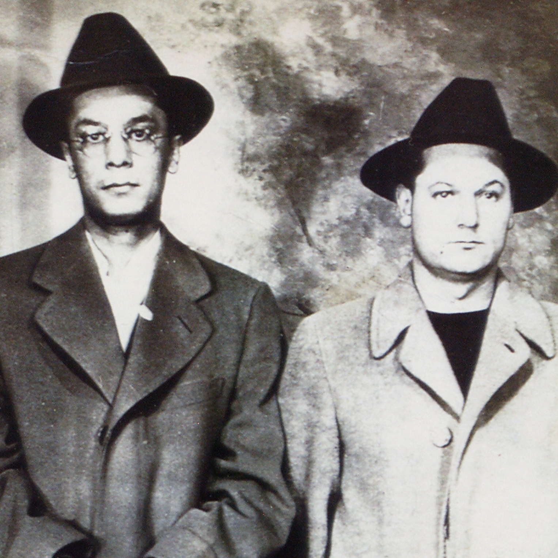 Suspects Charles Monazym and Thomas Viola standing mug shot Buffalo, New York, May 7, 1942.