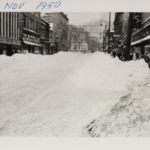 South Park Avenue following the blizzard of 1950.