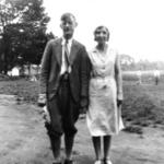 """""""Papa Dana and Helen Kephart, Nelson's Ledges, June 5 1931."""""""