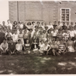 6th grade class photograph including Mrs. Jean Sharlock and Mrs. Mary K. Grant.